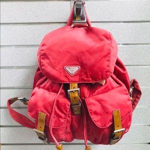 Prada Tessuto BackPack Medium Pink VGUC FIRM PRICE